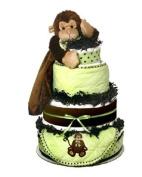 Monkey Nappy Cake Baby Gift
