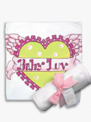 Light of Mine Designs Baby Love Receiving/Swaddling Blanket