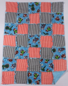 Thomas the Tank Engine Print Baby Rag Quilt with Matching Burp Cloth and Bib