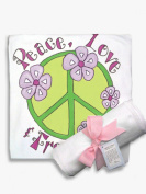 Light of Mine Designs Peace Green Receiving/Swaddling Blanket