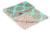 Magnolia Line Minky Baby Blanket Plush Blue