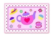 Two Pc Pink Tea Party Laminated Placemats Set