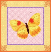 Eeboo Yellow Butterfly Canvas Wall Art