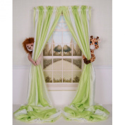 Curtain Critters Plush Jungle Safari Lion and Giraffe Curtain Tieback, Car Seat, Stroller, Crib Toys Collector Set