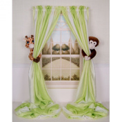 Curtain Critters Plush Jungle Safari Giraffe and Chocolate Monkey Curtain Tieback, Car Seat, Stroller, Crib Toys Collector Set
