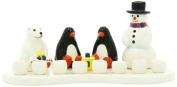 Gift Mark Themed Menorah, Ceramic Arctic