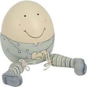Wooden Humpty Dumpty - BLUE - East of India Christening Gift