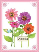 Eeboo Flower-zinnia Canvas Wall Art