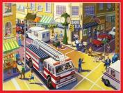 Eeboo Cityscape Canvas Wall Art - Frame 45.7cm x 61cm