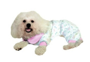 Paw Print PJ's - Pastel with Pink Trim / X-Small