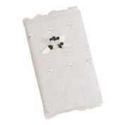 Elegant Baby Eyelet Cover Keepsake Bible