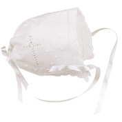 Elegant Baby White Keepsake Bonnet