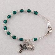 Sterling Silver Baby Bracelet Irish Celtic cross Green Baby Shower Baptism Christening Gift