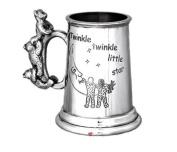 Childs Christening Twinkle Twinkle 3 Bear Handle Cup Tankard