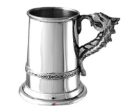 Childs Welsh Christening Cup Dragon Handle Tankard