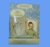 Beautiful Beginnings Baby Handprint And Picture Frame