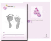 TenLil'Imprints Birth Announcement Kit, Pink/Black
