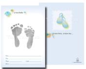 TenLil'Imprints Birth Announcement Kit, Blue/Black