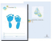 TenLil'Imprints Birth Announcement Kit, Blue