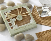 Natural Bamboo Eco-Friendly Coaster Favours (Four Coasters per Favour!) - Baby Shower Gifts & Wedding Favours