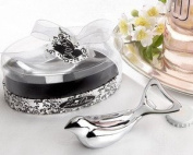 "The ""Love Dove"" Chrome Bottle Opener in Elegant, Oval Showcase Gift box - Baby Shower Gifts & Wedding Favours"