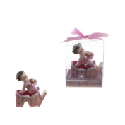 "Lunaura Baby Keepsake - Set of 30.5cm Girl"" Baby Laying on ""Baby"" Phrase Favours - Pink"