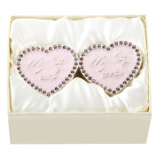 Silver Plated Diamante 1st Curl & 1st Tooth Set PINK
