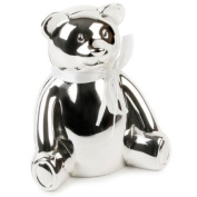 Baby Gifts Direct-Silver Plated Teddy Bear Money Box - Christening Gift/New Baby Gift