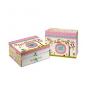 Happi by Dena Keepsake Box with Baby Book Compartment, Happi Baby Girl