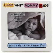 LOOK WHAT MOMMY MADE newborn baby frame by Our Name Is Mud - 4x5