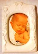 Baby's Christening Porcelain Frame