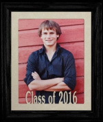 8x10 Class of 2016 Portrait Senior/Graduate School Picture/Photo Keepsake Frame ~ Cream Mat with BLACK Frame ~