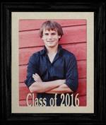 8x10 Class of 2016 Portrait Senior/Graduate School Picture/Photo Keepsake Frame ~ Cream Mat with BLACK Frame ~
