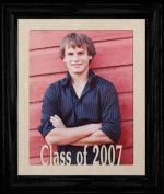 8x10 Class of 2007 Portrait Senior/Graduate School Picture/Photo Keepsake Frame ~ Cream Mat with BLACK Frame ~