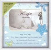Heartfelt Blue Baby Boy Keepsake 10x10 Photo Frame General Sentiments