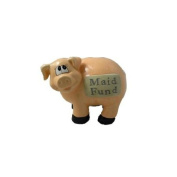 J & D Designs Piggy Bank - Maid Fund * Savings Coins Money Ceramic