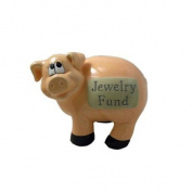 J & D Designs Piggy Bank - Jewellery Fund * Savings Coins Money Ceramic