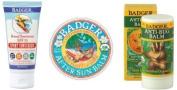 Badger Sun Care Set - SPF 35 Sports Sunscreen, After Sun Balm, Anti-bug Sticks