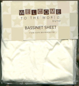 Welcome to the World Baby Bassinet Sheet Cream