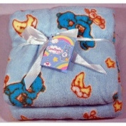 IDM Group Care Bears Fleece Baby Blanket - Baby Blue