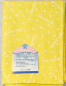 """NuAngel 100% Cotton Flannel Receiving Blanket, Sunshine Yellow """"Jesus Loves Me"""" MADE IN USA"""