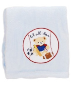 Kids Line Pram Boa Blanket with Sports Bear Embroidery