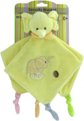 Baby Bow Plush Elephant Rattle Blanket in Yellow by Russ
