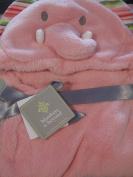 Baby Girl Hooded Elephant Blanket