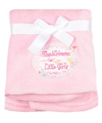 "Baby Starters ""Thank Heaven for Little Girls"" Cuddly Blanket - pink, one size"