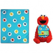 Sesame Street Elmo Fleece Throw Blanket and Buddy Set