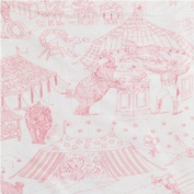 Amy Coe Limited Edition Pink Circus Toile Baby Blanket