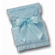Bearington Baby Silky Soft Blue Security Blanket