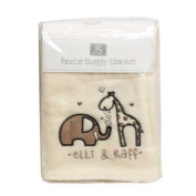 Elli & Raf F Embriodered Cream Fleece Buggy Blanket