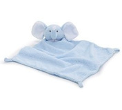 Blue Baby Boy Elephant Velboa Security Blanket for Baby